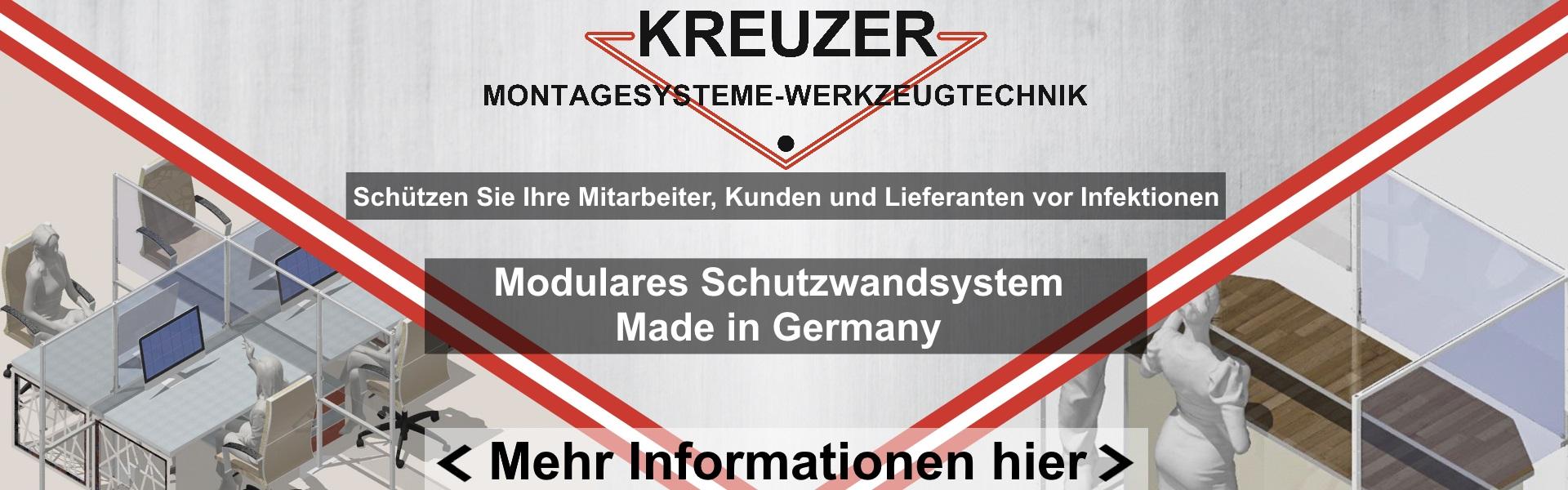 Modulares Schutzwandsystem – Made in Germany
