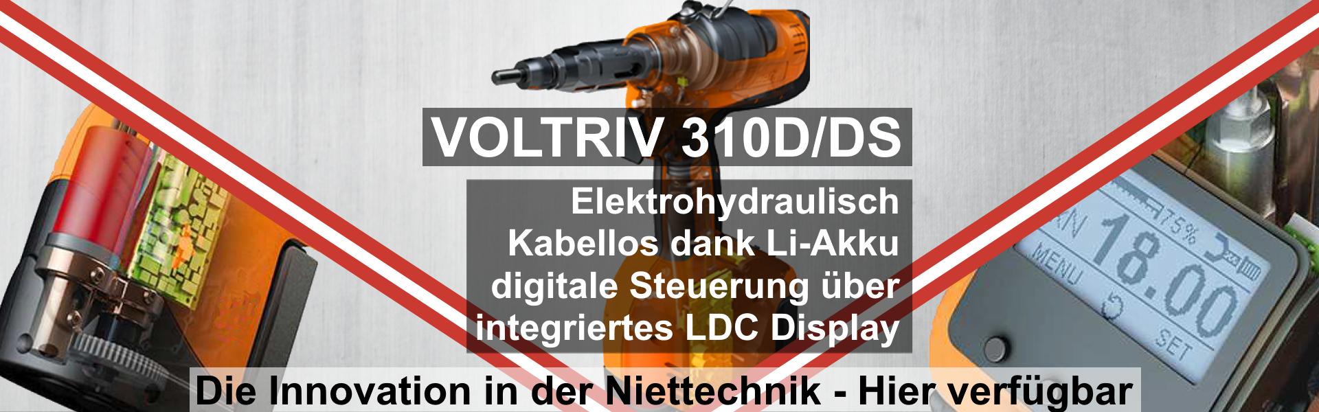VOLTRIV® 310D/DS – Akkubetriebenes Werkzeug mit digitaler Steuerung